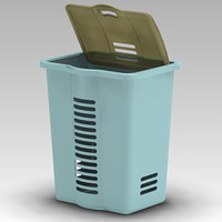 free laundry basket 3d model