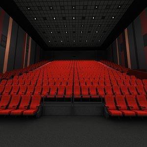 3d model imax interior scene