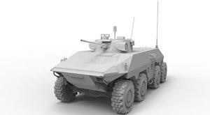 3d btr 8x8 fighting vehicle model