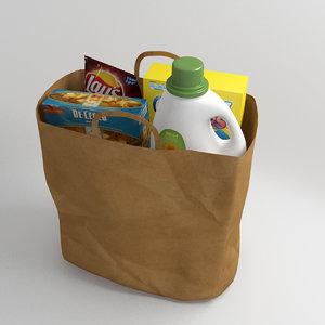 shopping bag 3d max