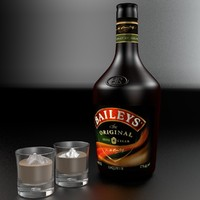 3d bottle baileys model