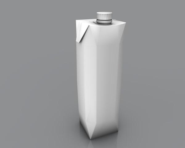juice beverage pack 3d model