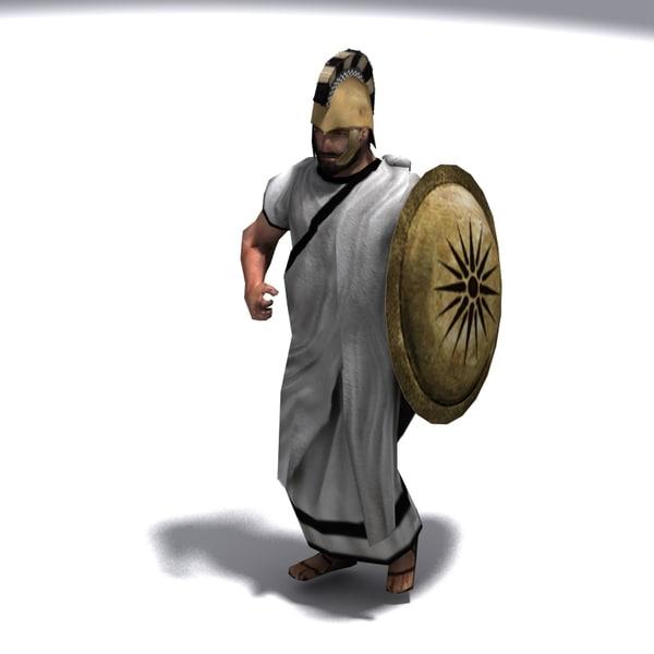3d model greek emissary