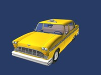 sedan antique 3d model