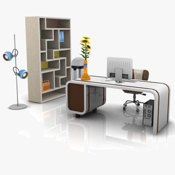 office set 03 obj