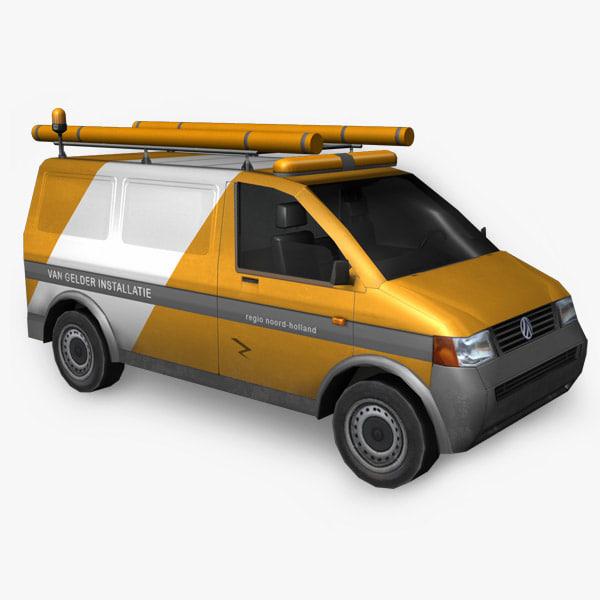 volkswagen service van 3d model