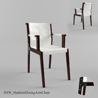 3d jmw hadrien dining arm chair