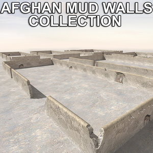 afghan mud walls collections 3d c4d