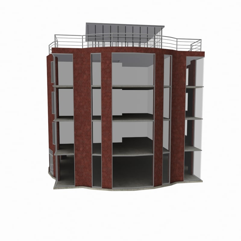 3d model residential office building