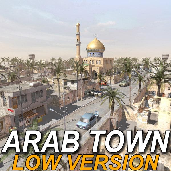 3d arab town street