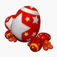 3d model of easter eggs