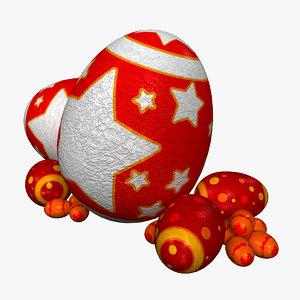 3d model of easter eggs