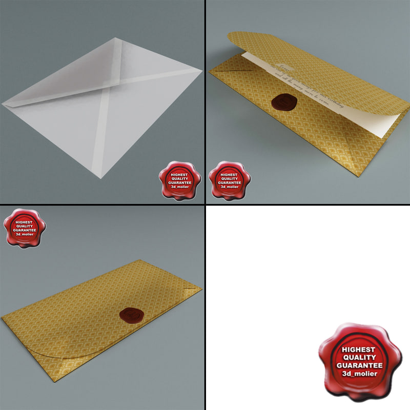 3ds max envelopes set modelled