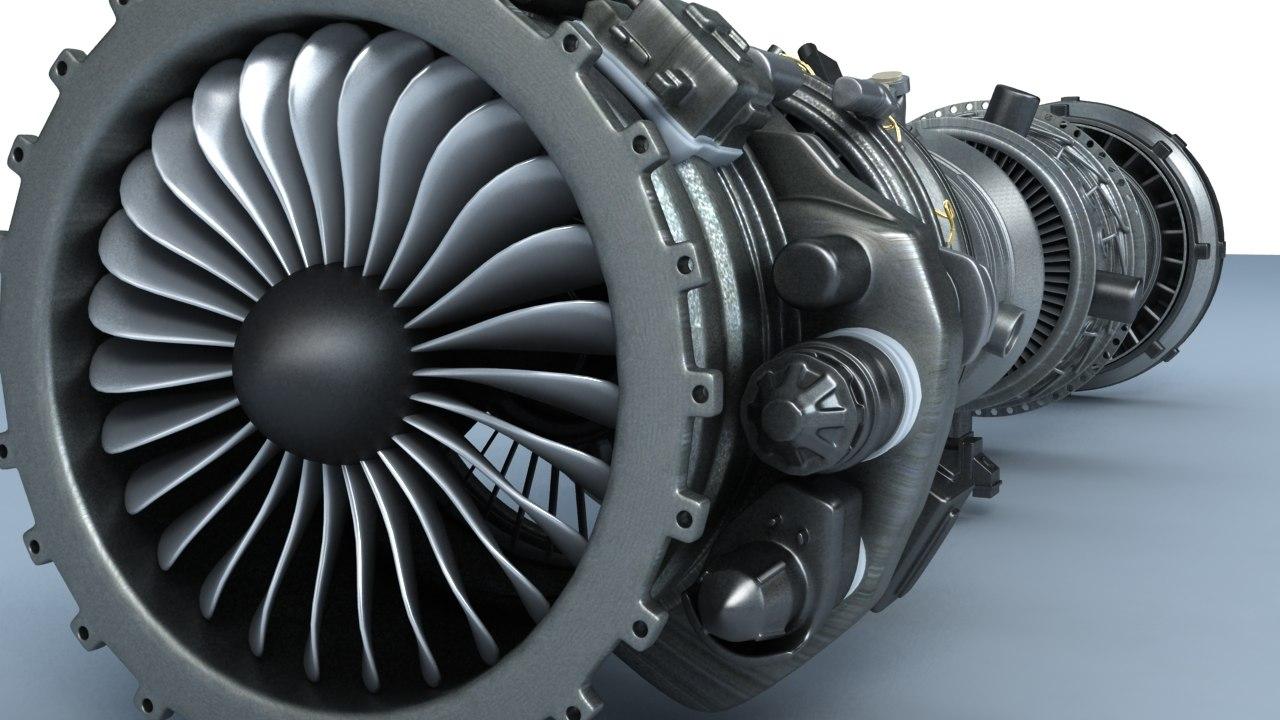 aircraft turbines 3d model