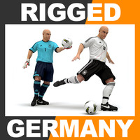 Rigged Football Player and Goalkeeper - Germany National Team