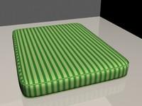 green mattress 3d model