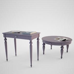 3d photorealistic ikea isala tables model