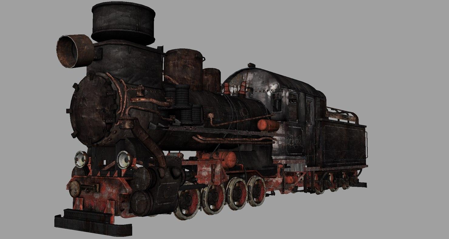 steam p24 narrow-gauge 3d model