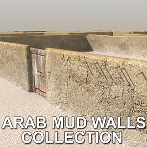 3d 3ds arab mud walls collections