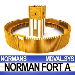 3d medieval norman fort