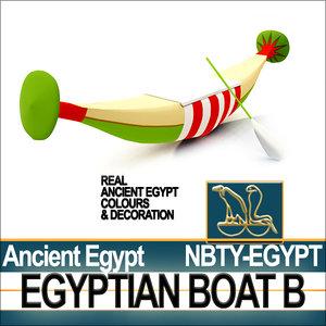 3d model of ancient egypt boat b