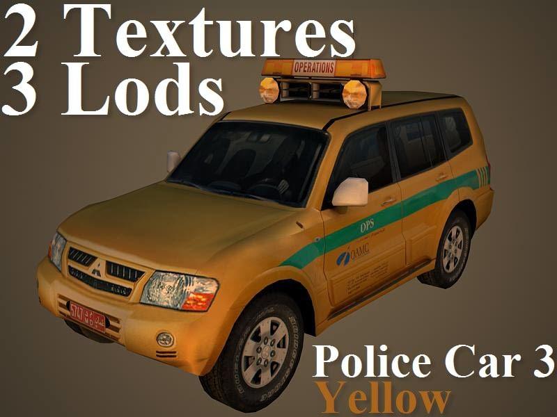 police car 3 3d model