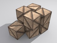 3d model crate storage