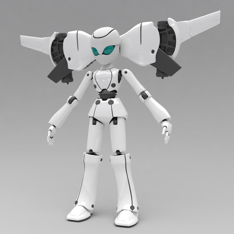 3ds max robot bot toy