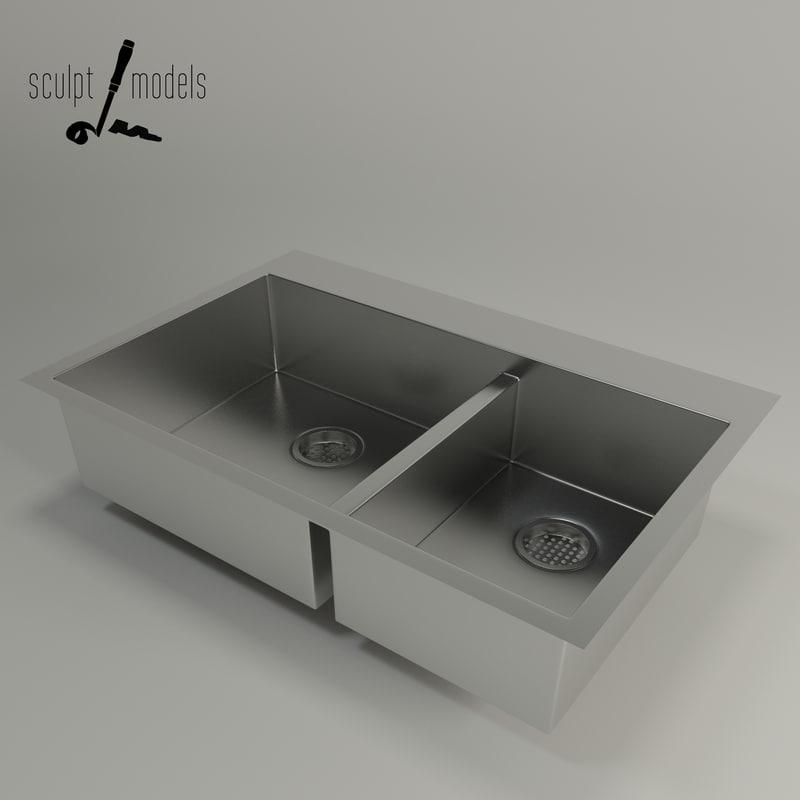 kohler kitchen vault sink 3d max