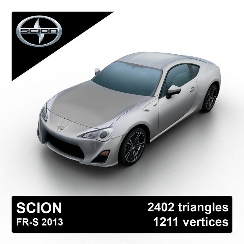 2013 scion fr-s 3d max