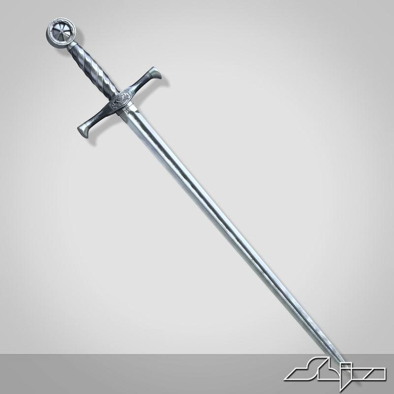 medieval long sword 1 3d obj