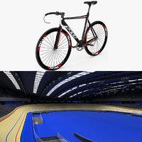 3d velodrome track bike