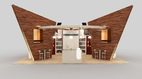 novawood exhibition stand 3d model