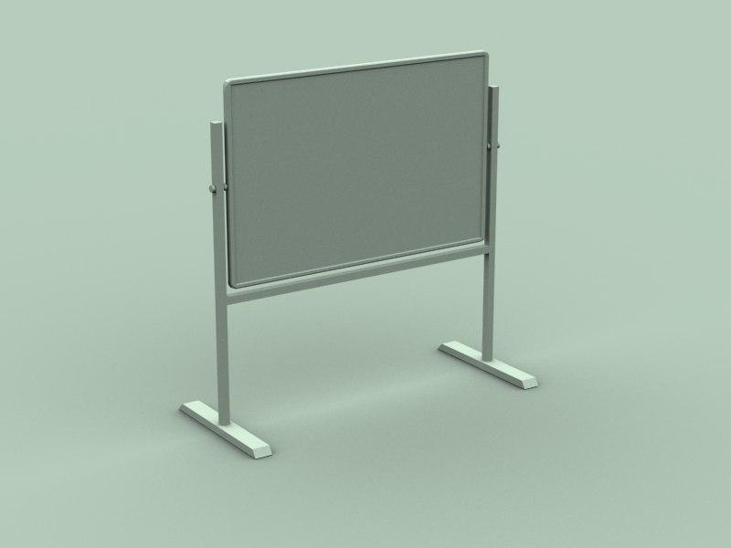 3d whiteboard white model