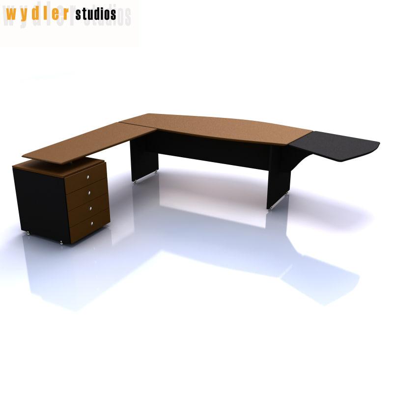 desk corner 3d model