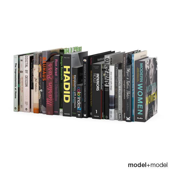 dark design books set 3d obj