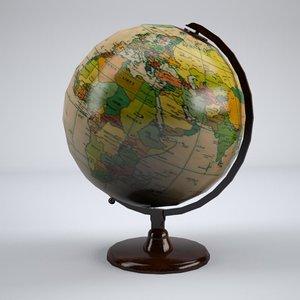 3d model world globe
