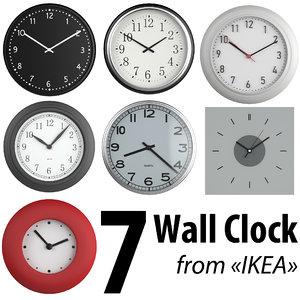 classic wall clocks ikea 3d max
