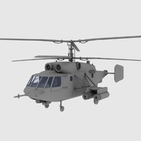 KA-29 Soviet Marines Assault Helicopter Gunship Game model