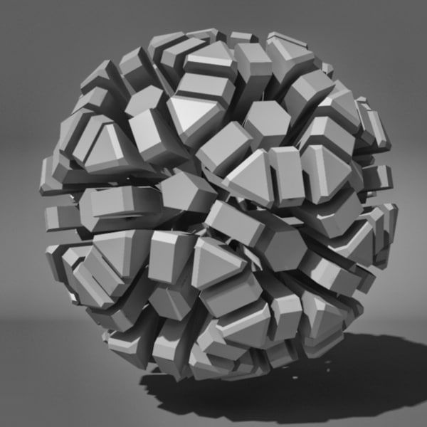 voronoi tessellation abstract c4d