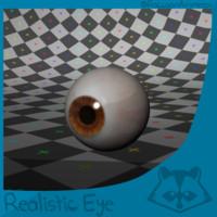 free human eye 3d model