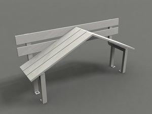 3d model park strange benches