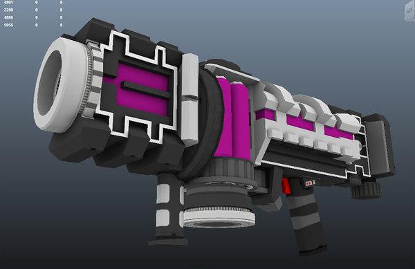 plasma cannon gun 3d model