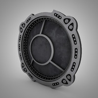 porthole bank vault 3d model