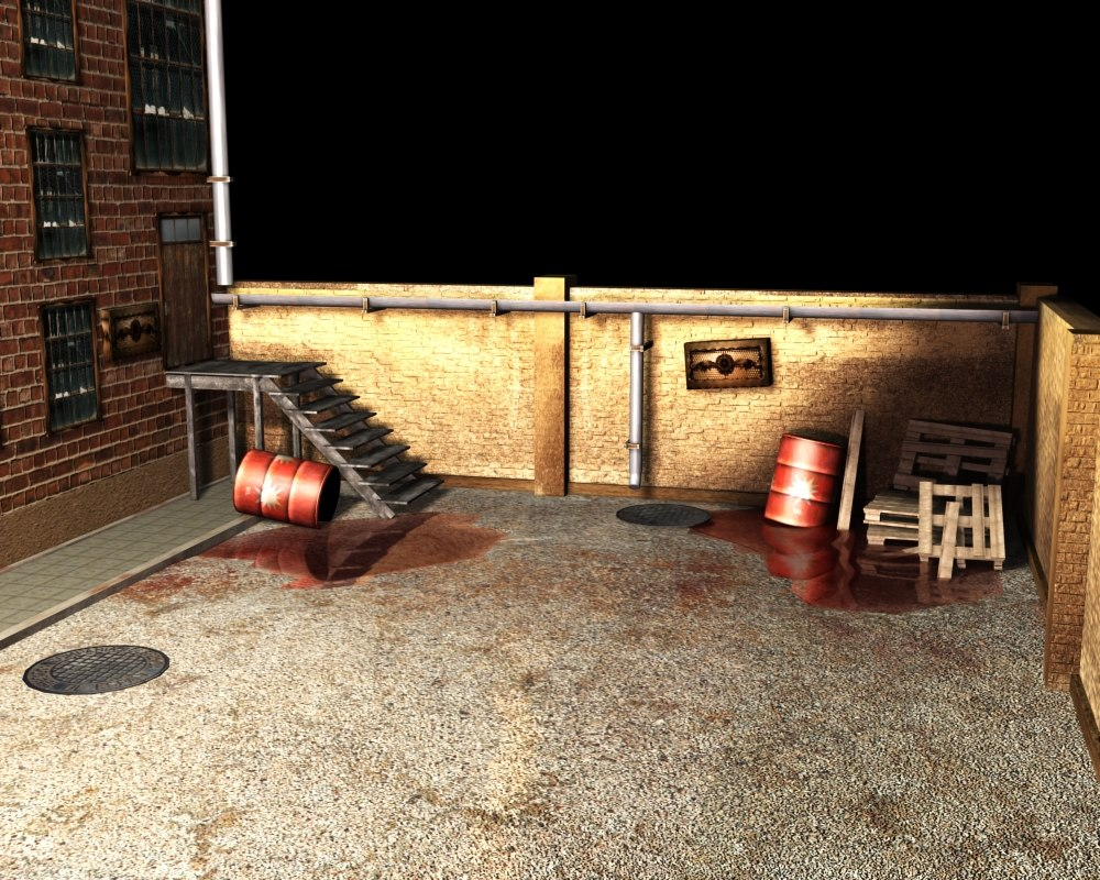 3ds max alley