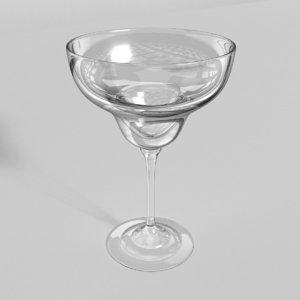 margarita glass 3d obj