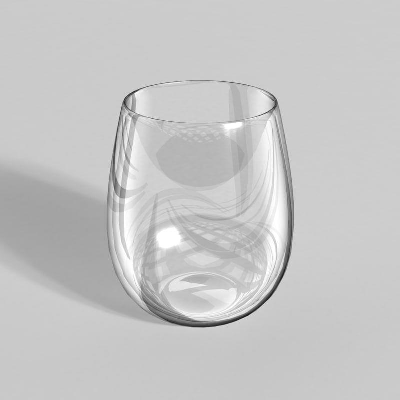 stemless glass 3ds