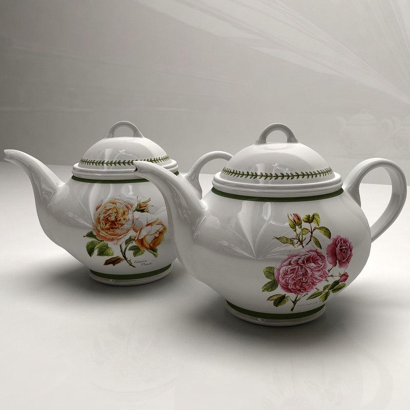 3ds teapot materials