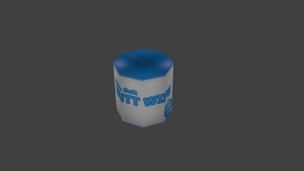 free toilet paper 3d model