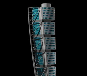 turning torso obj